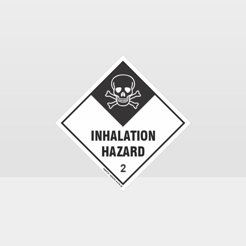 Class 2 Inhalation Hazard Sign
