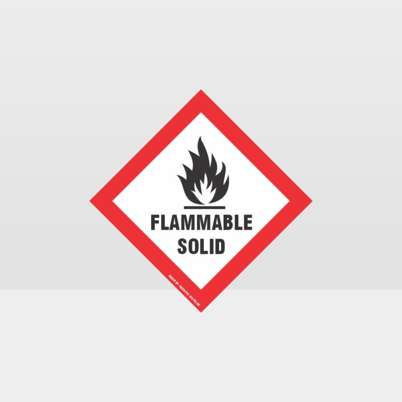 Class 4 Flammable Solid Sign