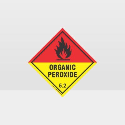 Class 5.2 Organic Peroxide Sign