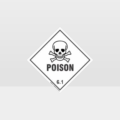 Class 6.1 Poison Sign