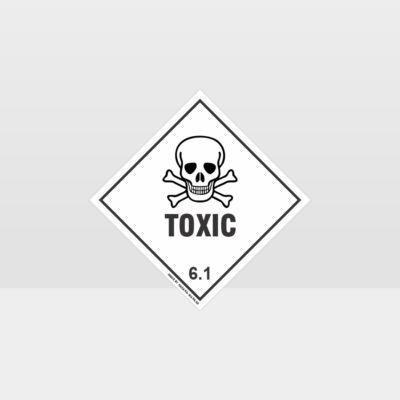 Class 6.1 Toxic Sign