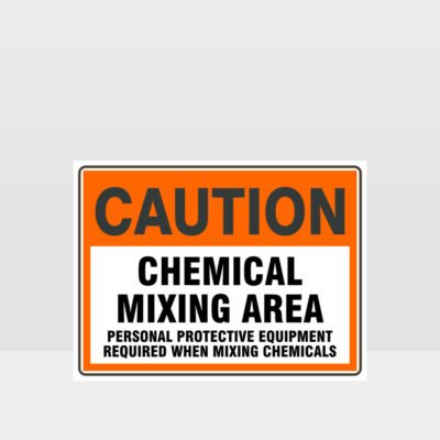 Caution Chemical Mixing Area
