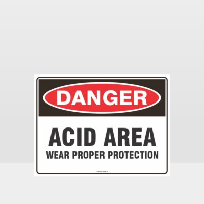 Acid Area Wear Proper Protection