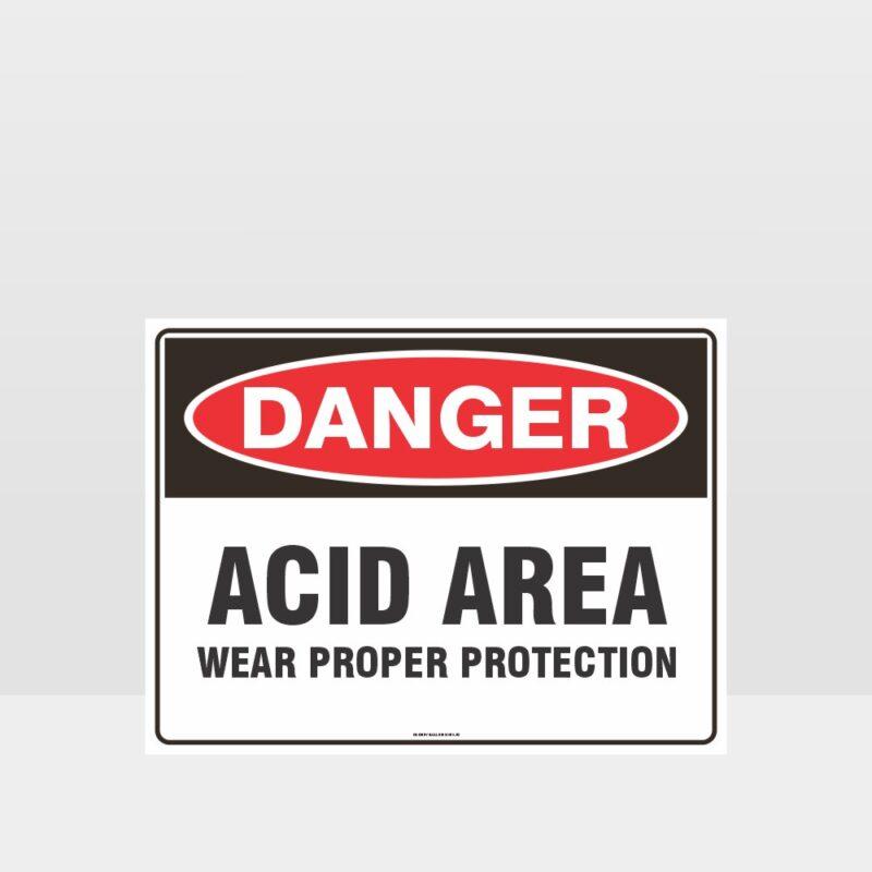 Acid Area Wear Proper Protection