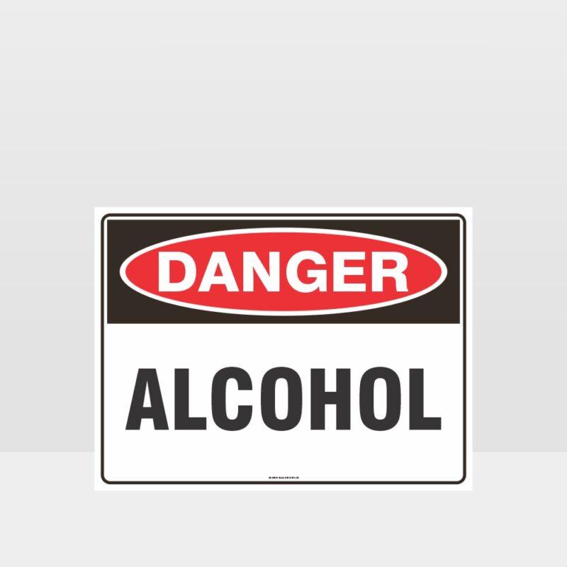 Danger Alcohol Sign