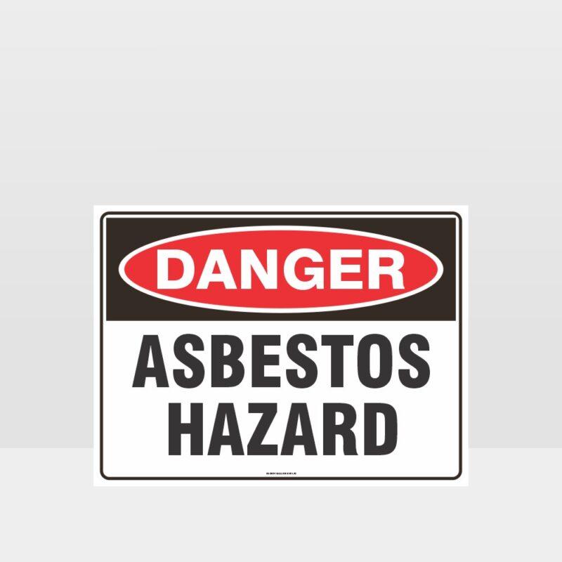 Danger Asbestos Hazard Sign