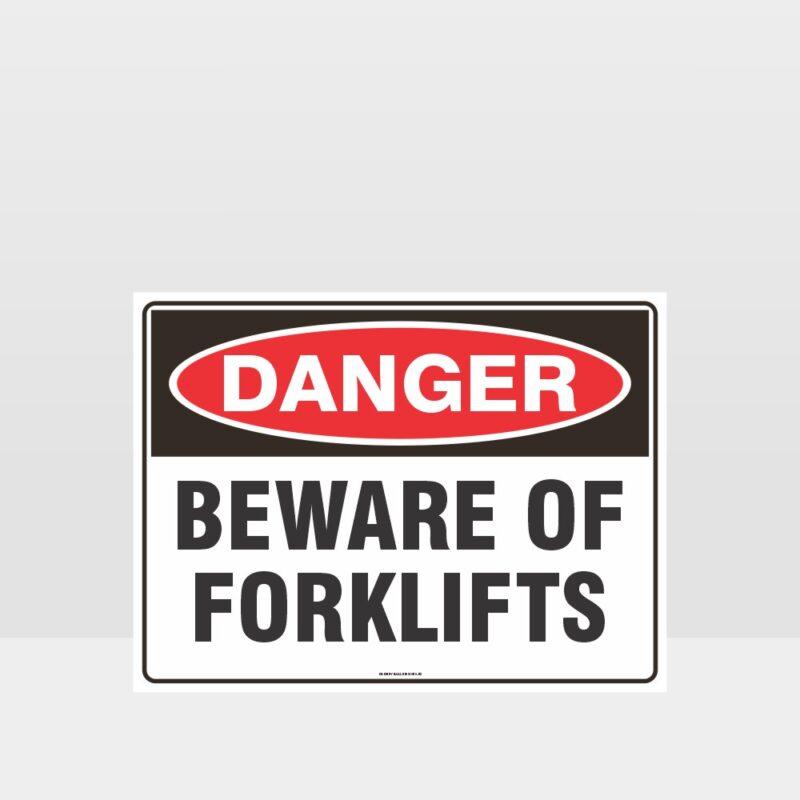 Danger Beware Of Forklifts Sign