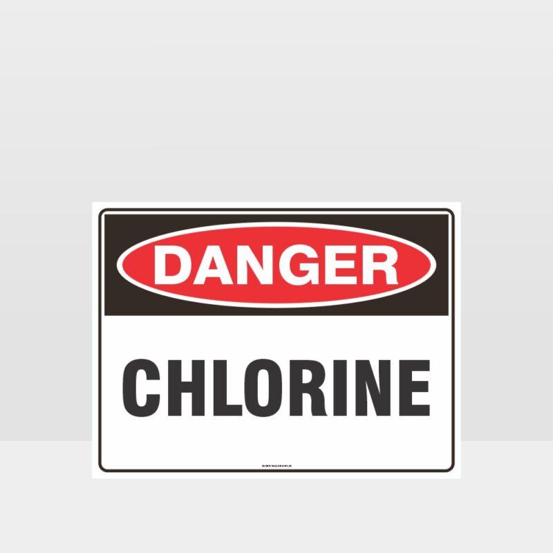 Danger Chlorine Sign