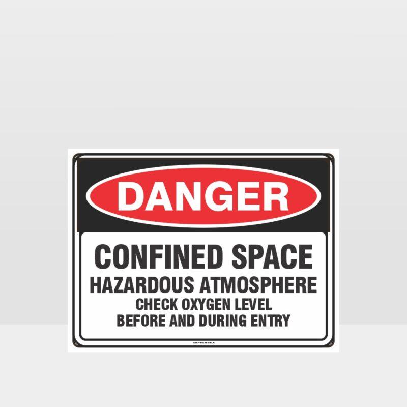 Danger Confined Space Hazardous Atmosphere Sign