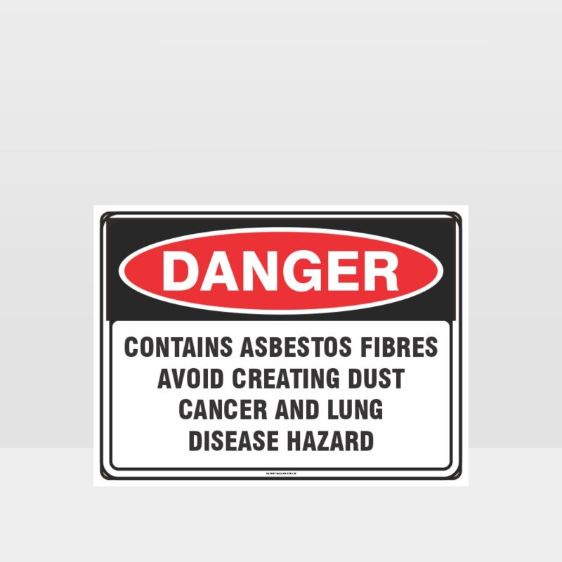 Danger Contains Asbestos Fibres Sign