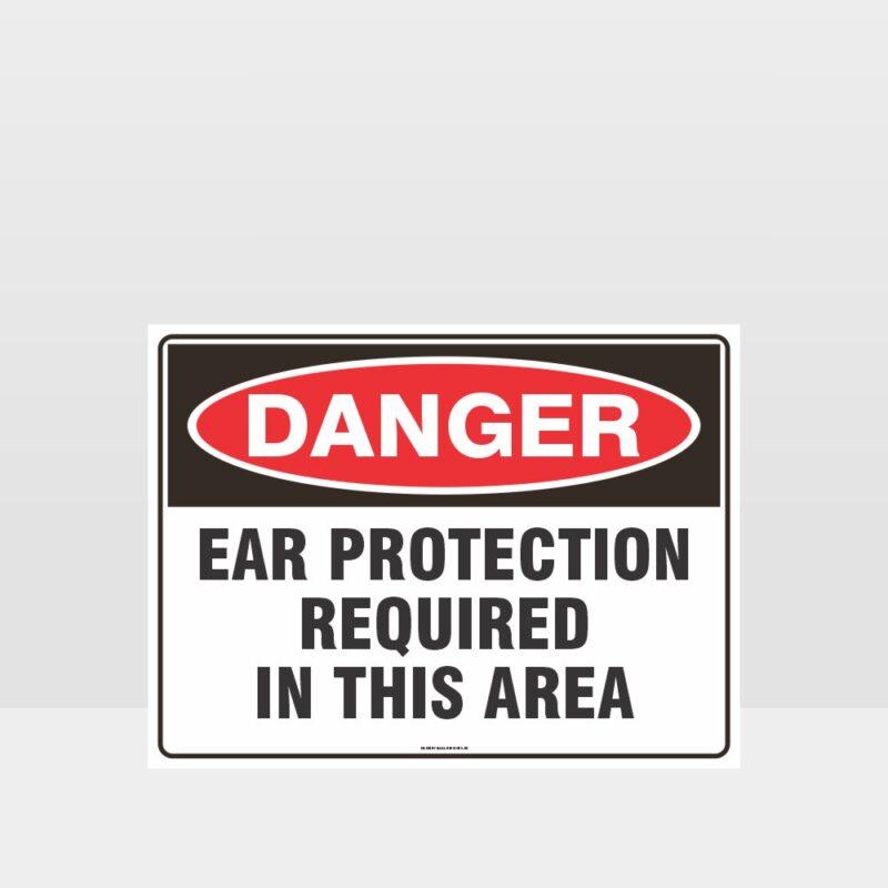 Danger Ear Protection Sign