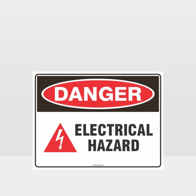 Danger Electrical Hazard With Symbol Sign