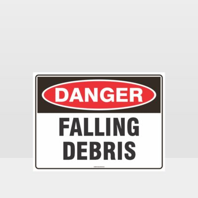 Danger Falling Debris Sign
