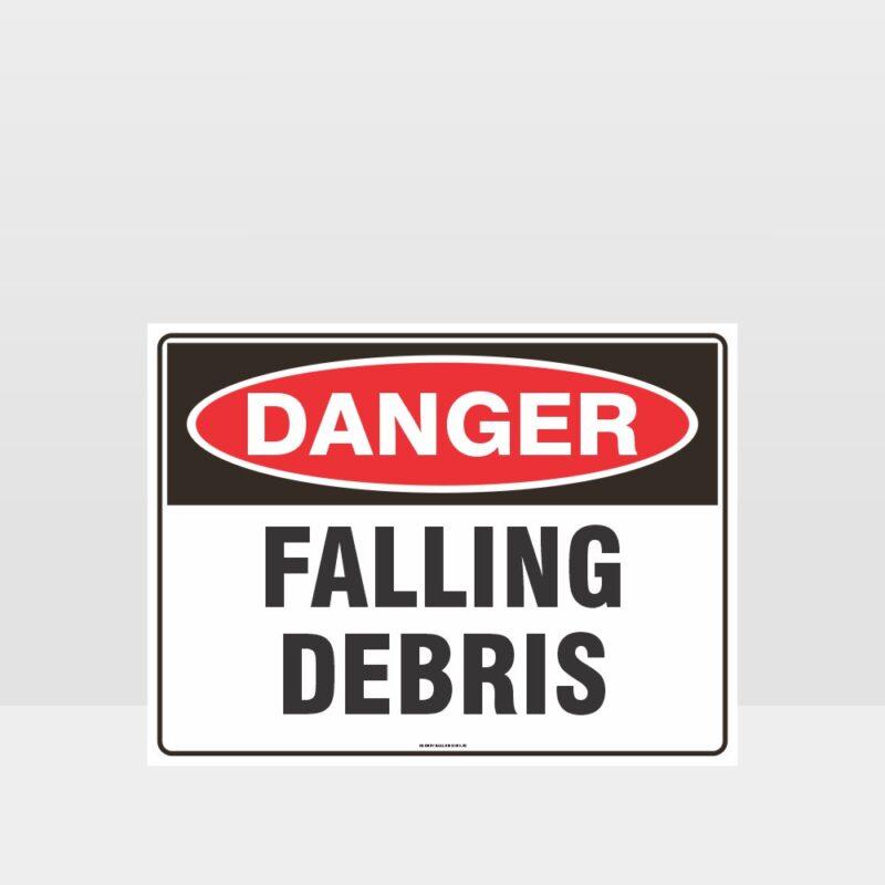 Danger Falling Debris Sign