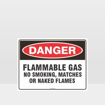 Flammable Gas No Smoking