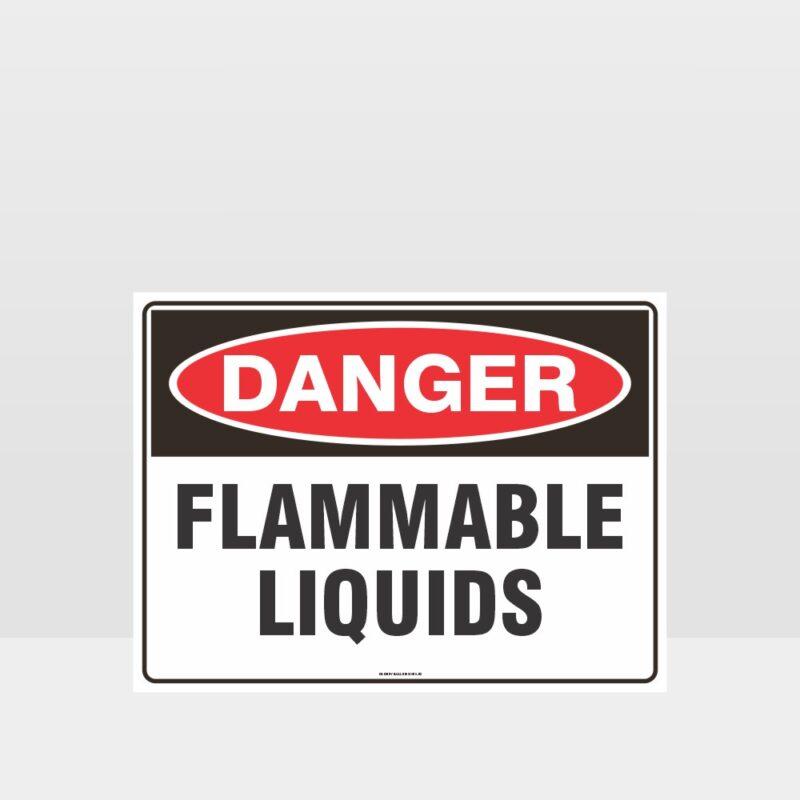 Danger Flammable Liquids Sign