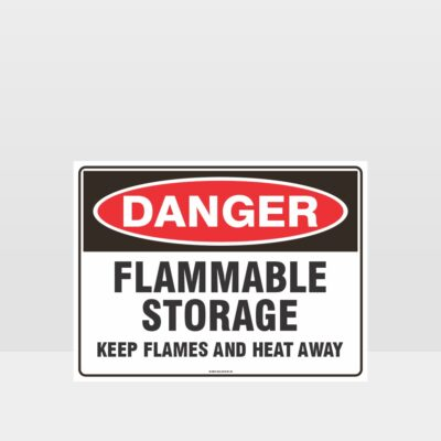 Danger Flammable Storage Sign