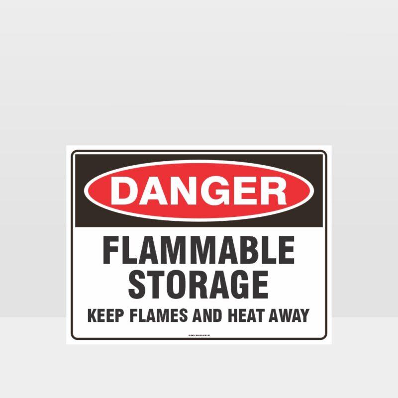 Danger Flammable Storage Sign