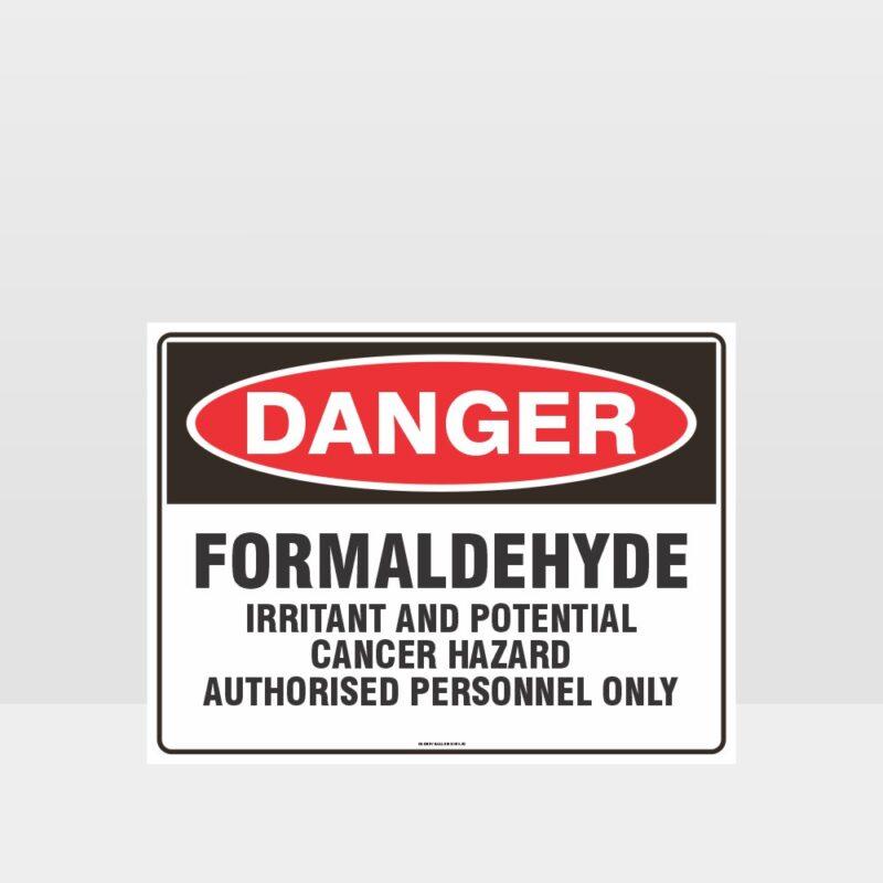 Danger Formaldehyde Sign