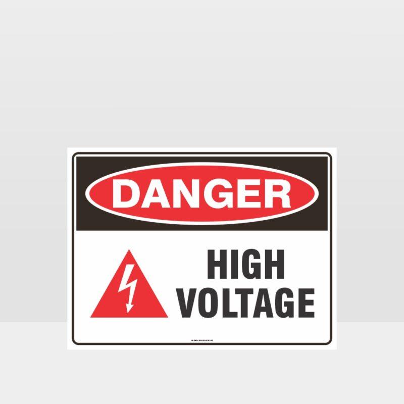 Danger High Voltage Symbol Sign