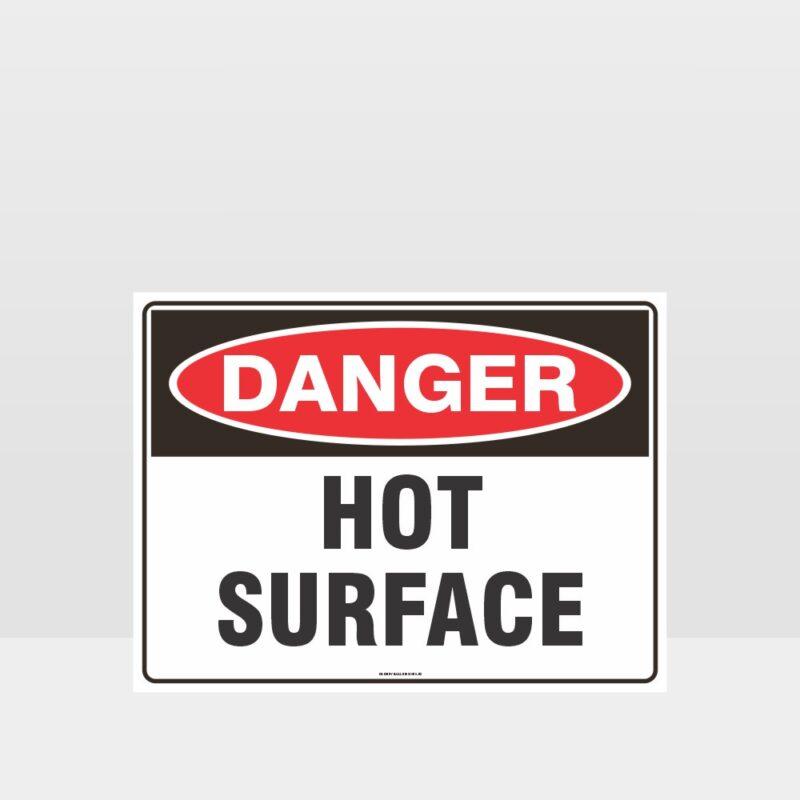 Danger Hot Surface Sign