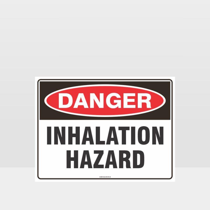Danger Inhalation Hazard Sign