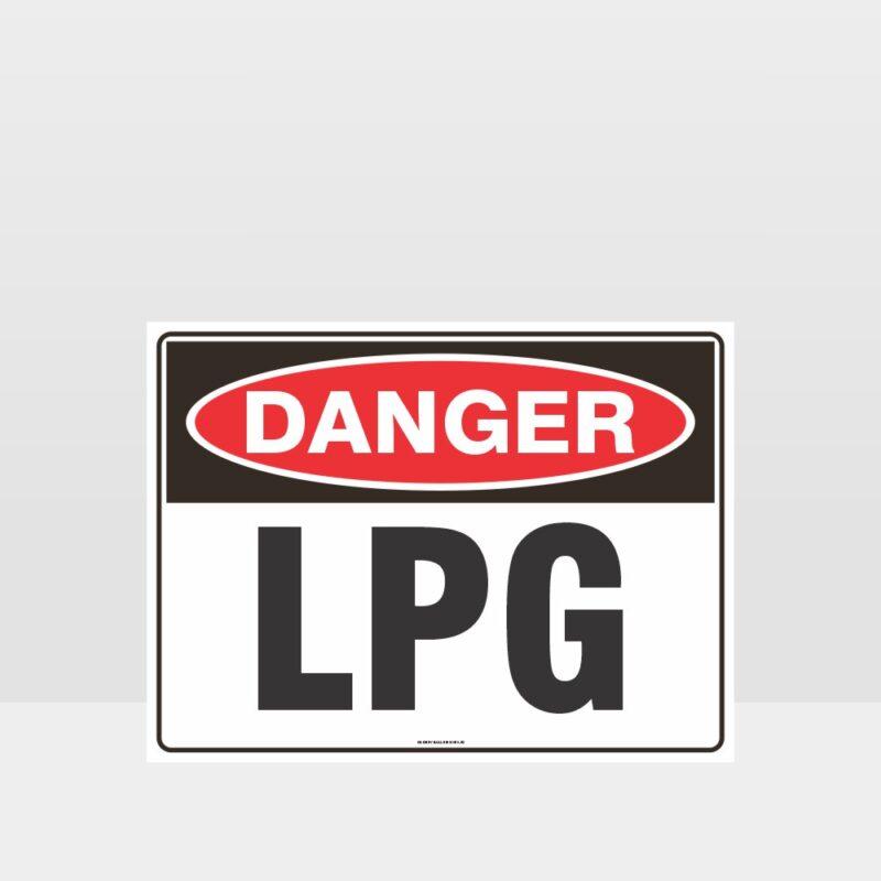 Danger LPG Sign