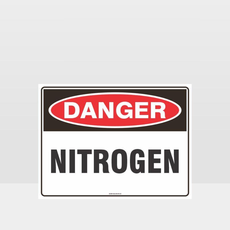 Danger Nitrogen Sign