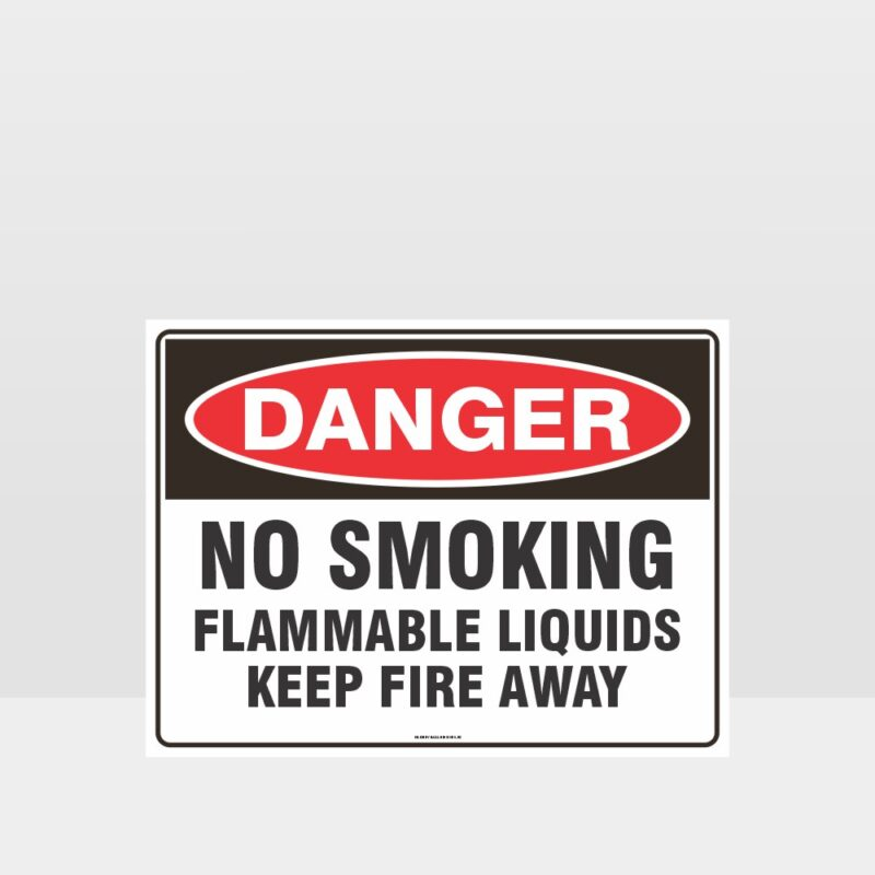 Danger No Smoking Flammable Liquids Sign