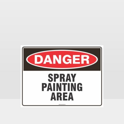 Danger Spray Painting Area Sign