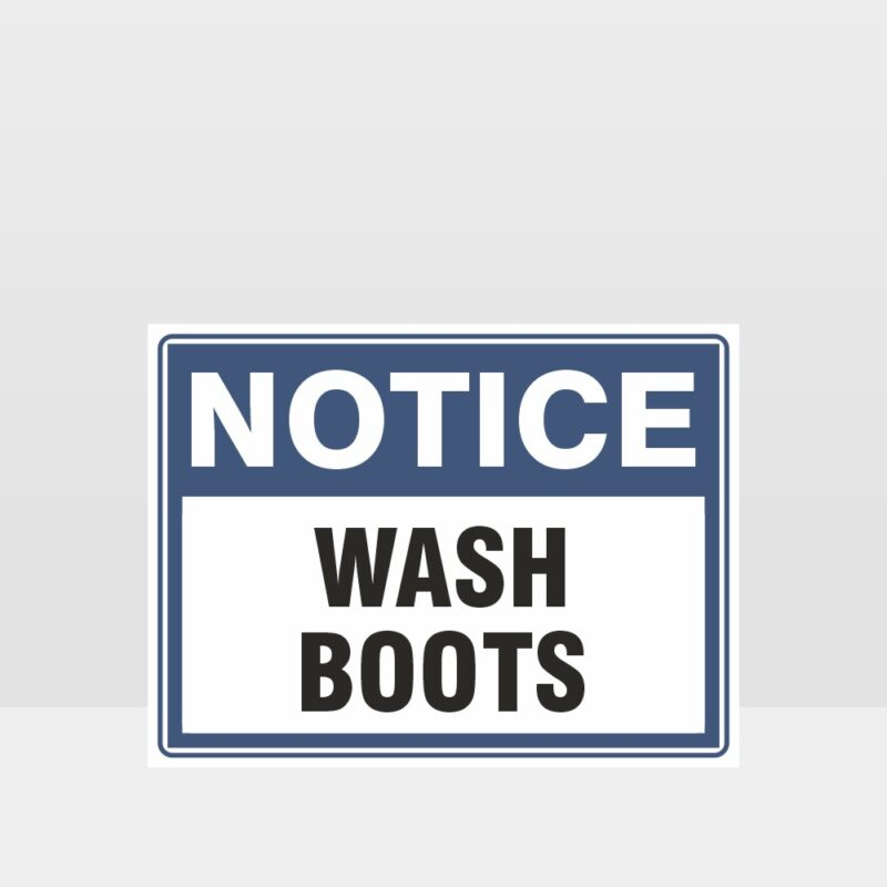 Wash Boots Sign