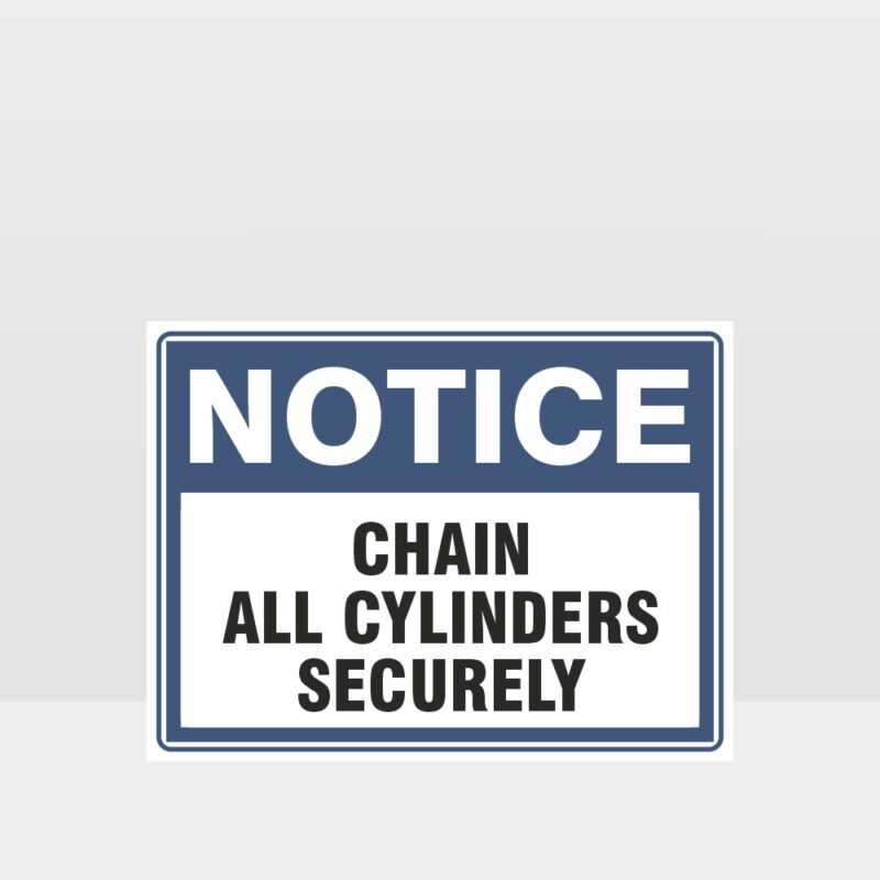 Chain All Cylinders Securely Sign