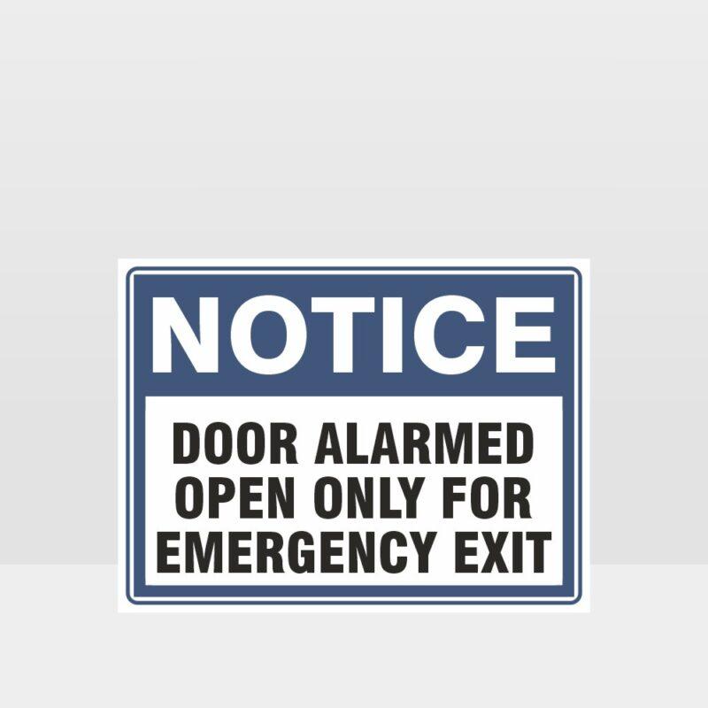 Door Alarmed Sign