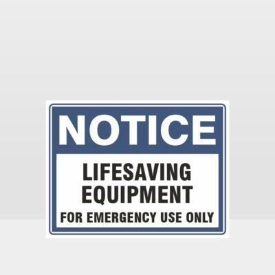 Lifesaving Equipment Sign
