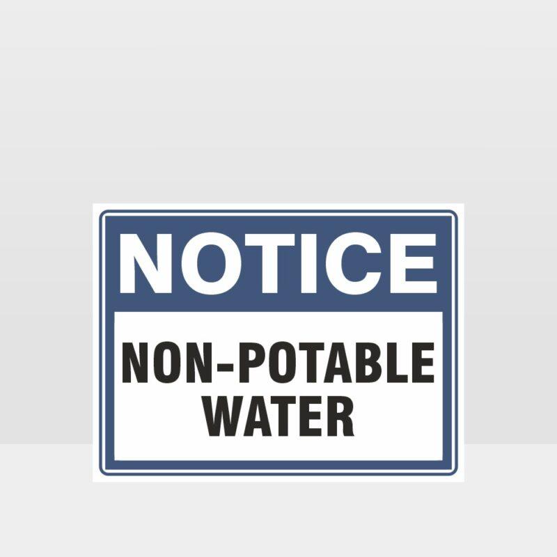 Non Potable Water Sign