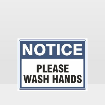 Please Wash Hands Sign