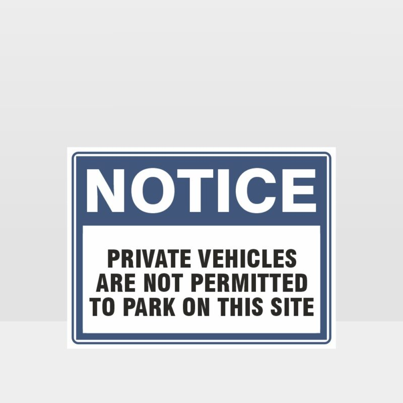Private Vehicles Are Not Permitted Sign