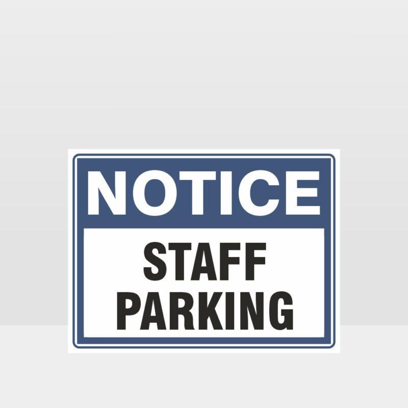 Staff Parking Sign