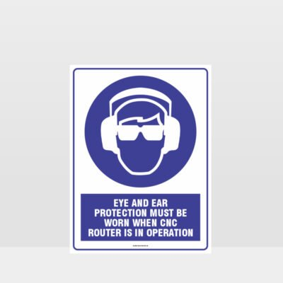 Mandatory Eye And Ear Protection Sign