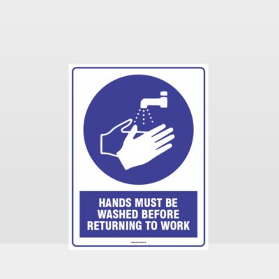 Mandatory Hands Must Be Washed Sign