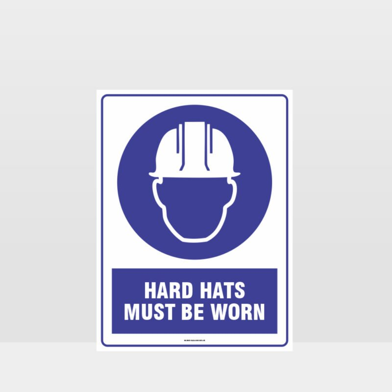 Mandatory Hard Hat Must Be Worn Sign