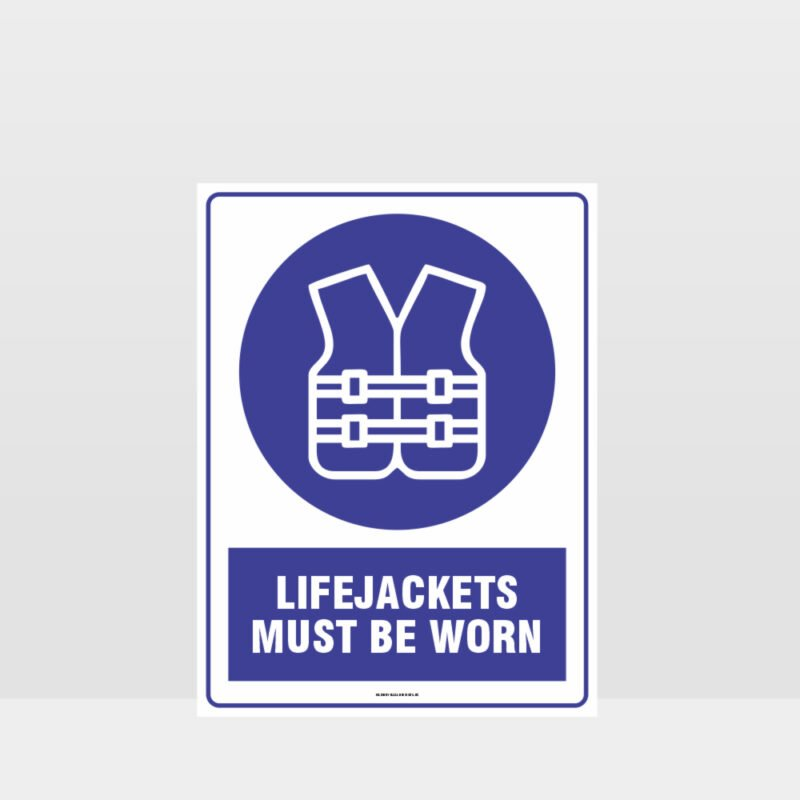 Mandatory Lifejackets Must Be Worn Sign