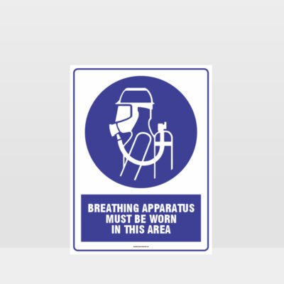 Mandatory Breathing Apparatus Must Be Worn Sign