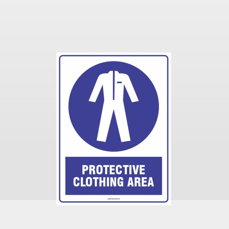 Mandatory Protective Clothing Area Sign