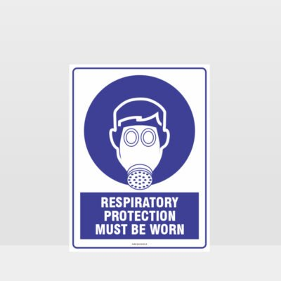 Mandatory Respiratory Protection Must Be Worn Sign