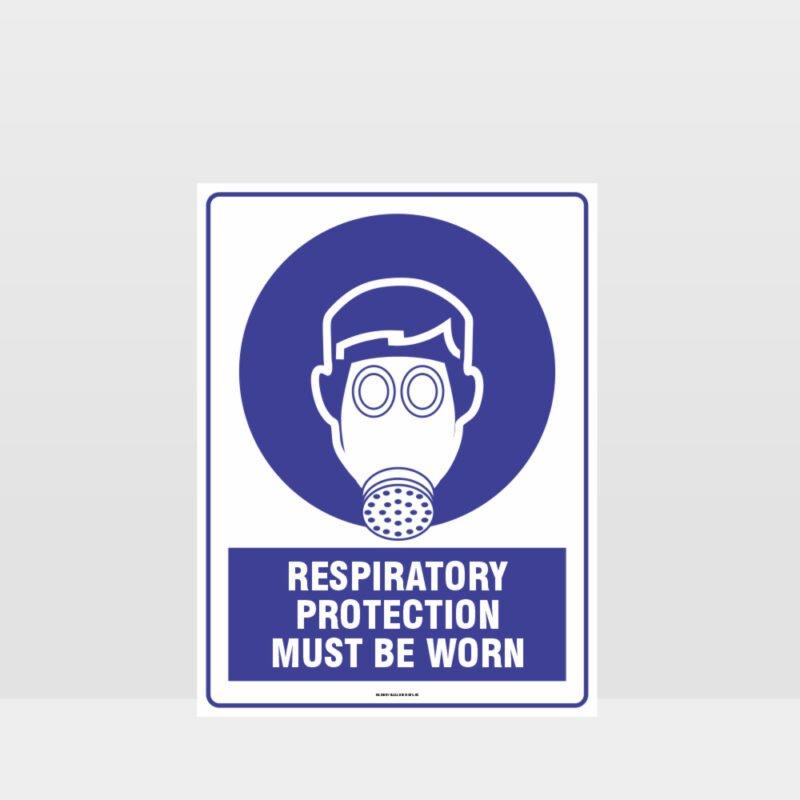 Mandatory Respiratory Protection Must Be Worn Sign