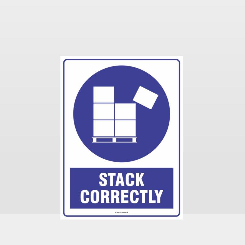 Mandatory Stack Correctly Sign