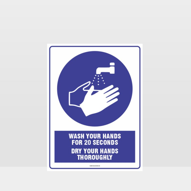 Mandatory Wash Your hands for 20 Seconds Sign