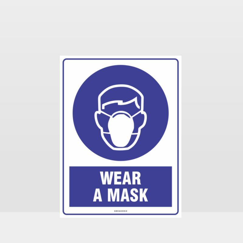 Mandatory Wear A Mask Sign
