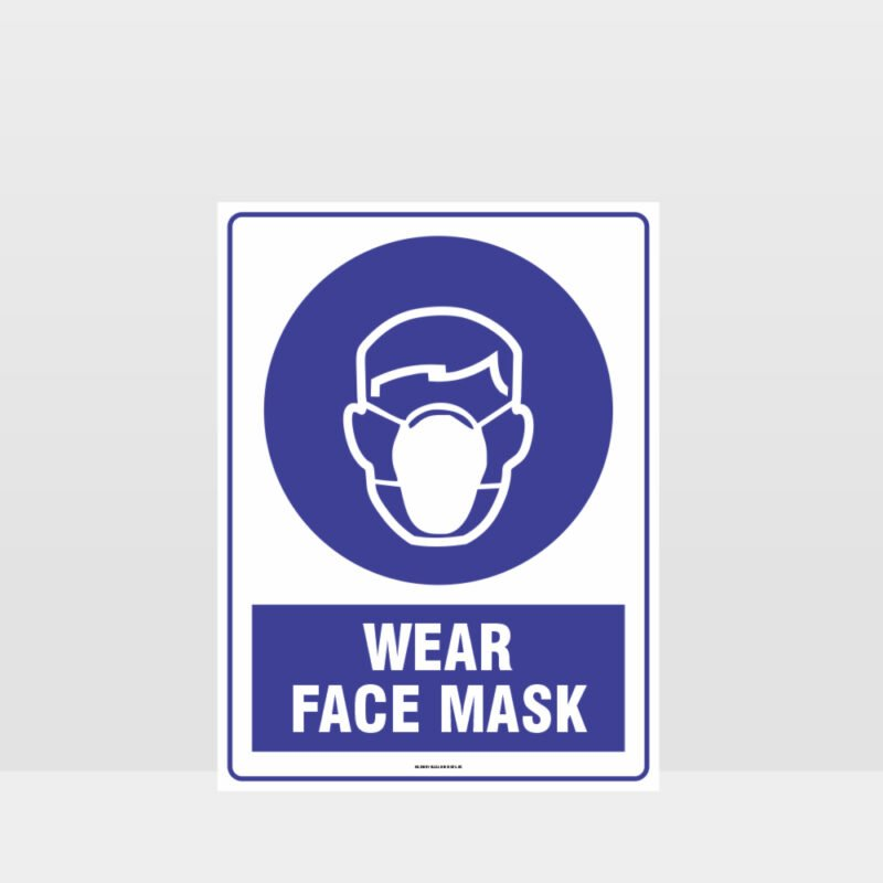 Mandatory Wear Face Mask Sign